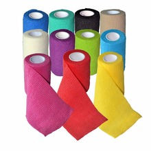 12Pcs/Lot 7.5cm x 4.5m Self Adhesive Elastic Nonwoven Cohesive Bandage Adherent Wrap