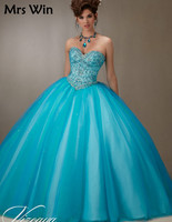 2019 Embroidery Cheap Quinceanera Gowns Sweet 16 Princess Dresses 15 Royal Blue Pink Champagne White Online Long Ball Gown