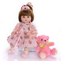 bebes reborn doll 48cm Baby girl Dolls soft Silicone Boneca Reborn Brinquedos Bonecas children's day gifts toys bed time plamate