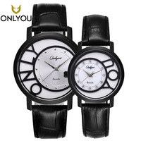ONLYOU 2017 New Lovers Watch Business Watches Top Band Luxury Fashion Quartz Women Diamond Wristwatches Relogio Black Watch