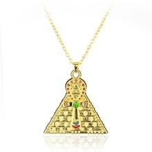 Gold Egyptian Ankh Key Of Life Cross Pyramid Pendant Amulet Necklace стальная ванна 180х80 см blb atlantica b80a