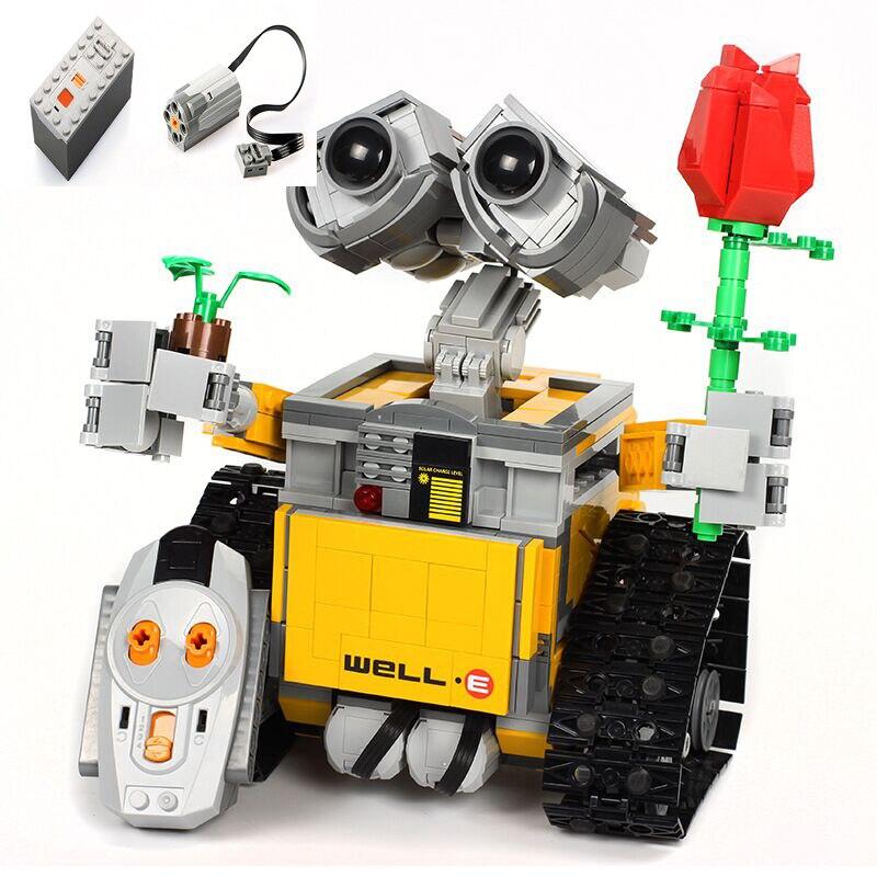 RC télécommande mur E Robot Figure avec batterie bloc de construction briques modèle jouets Compatible 16003 Technik 21303 - 4