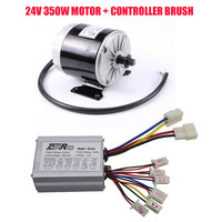 Genuine New 24 Volt 350 Watt Motorcycle Brush Electric Motor + Speed Controller Box For scooter ATV Buggy Quad Bike