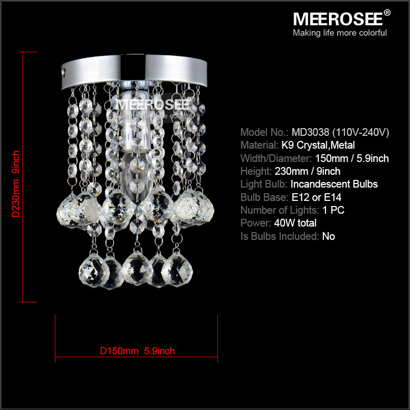 1 Light Crystal Chandelier Lighting Fixture Small Clear Re Lamp For Aisle Stair Hallway Corridor Porch In Chandeliers From Lights