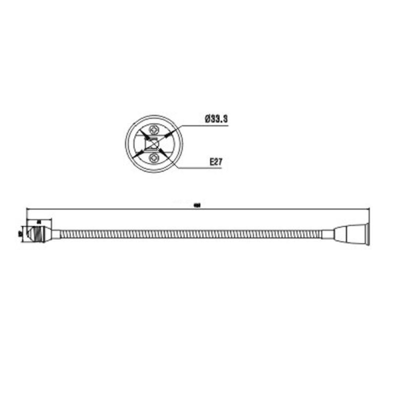 10 шт. адаптер конвертер E27 к E27 Универсальный 50 см держатель адаптера огнезащитным PBT держатель лампы E27 к E27 универсальный 50 см
