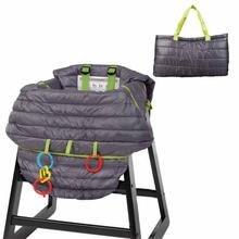 Темно-серого цвета для маленьких детей магазинная Тележка для покупок Защита Подушка, чехол для сиденья высокой многофункциональный 2 в 1 чехол для стула
