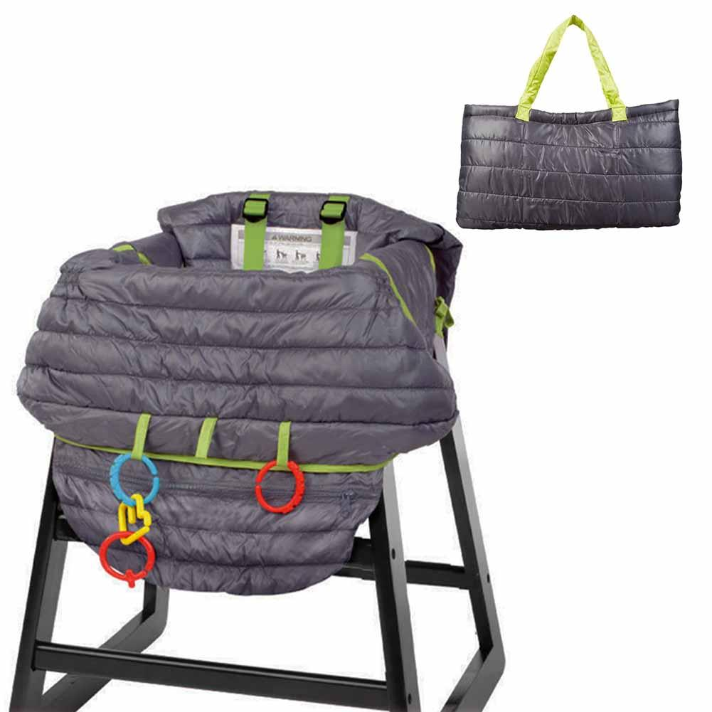 Dark Gray Baby Child Supermarket Shopping Cart Protection Cushion Seat Cover High Multifunctional 2-in-1 Chair Cover