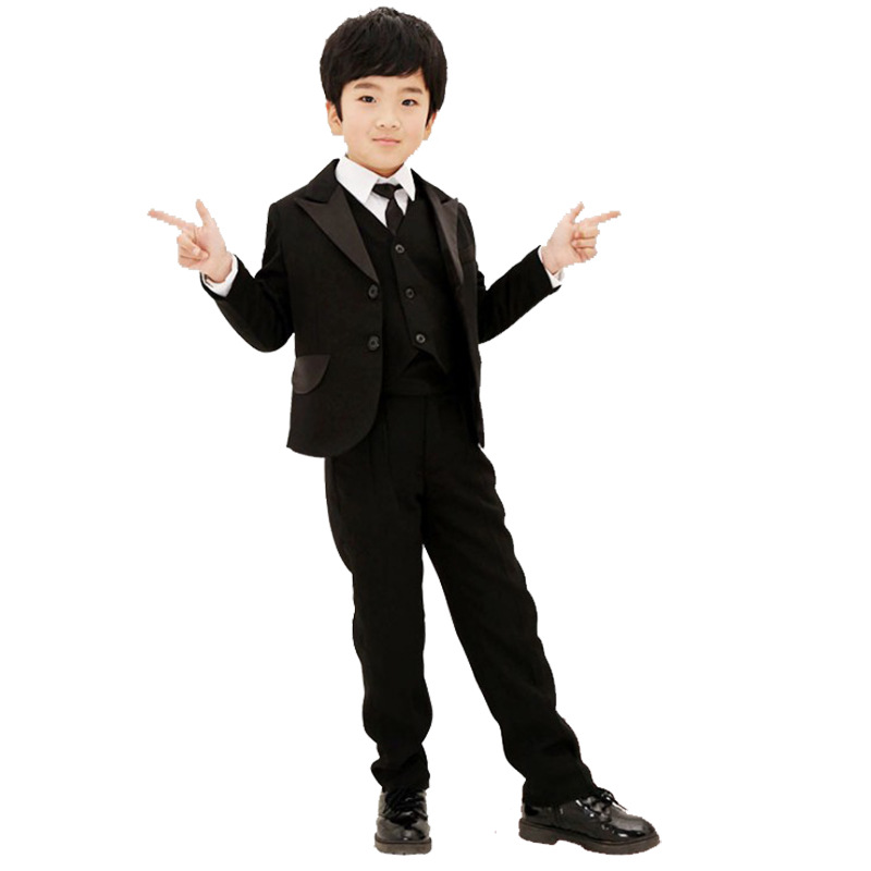 2018 Children suits sets Black formal blazers kids Vest wedding dress suit for boys school student coats jacket for student performance clothes children clothing sets boys blazers wedding sets pieces boys tuxedo suits
