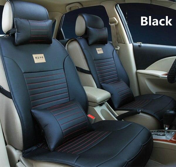 OFERTA ESPECIAL funda de asiento de coche de cuero de lujo de 10 piezas con soporte de 2 cuello y reposacabezas