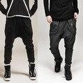 2017 Новая Мода Мужские Jogger Брюки Мужчины Свободные Hip Hop Шаровары Бегунов Хлопок Сплошной Комфорт Случайные Штаны Брюки