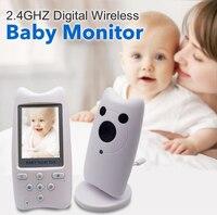 Infant Wireless Monitor Night Vision Digital Video Baby Monitor Audio Music Camera 2.4''Color Display Temperature Nanny Monitor