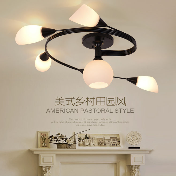 ФОТО Modern LED Ceiling Lights Glass lamps lamparas de techo Plafondverlichting plafonnier Home Lighting plafonnier led moderne