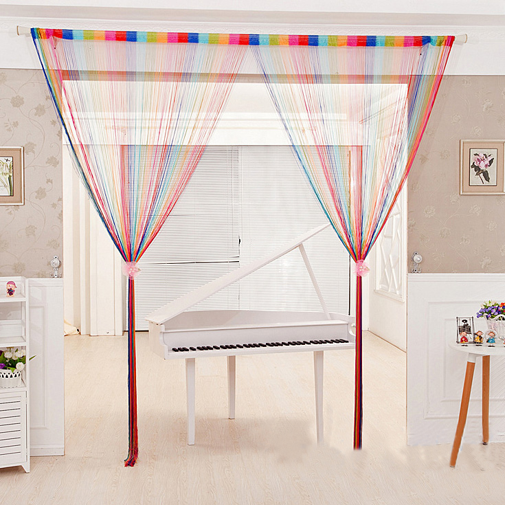 RUBIHOME Colours String Tassels Door Curtain Separate For Living Children Room Decoration Home Textile without Tube-in Window Screens from Home \u0026 Garden on ...  sc 1 st  AliExpress.com & RUBIHOME Colours String Tassels Door Curtain Separate For Living ...