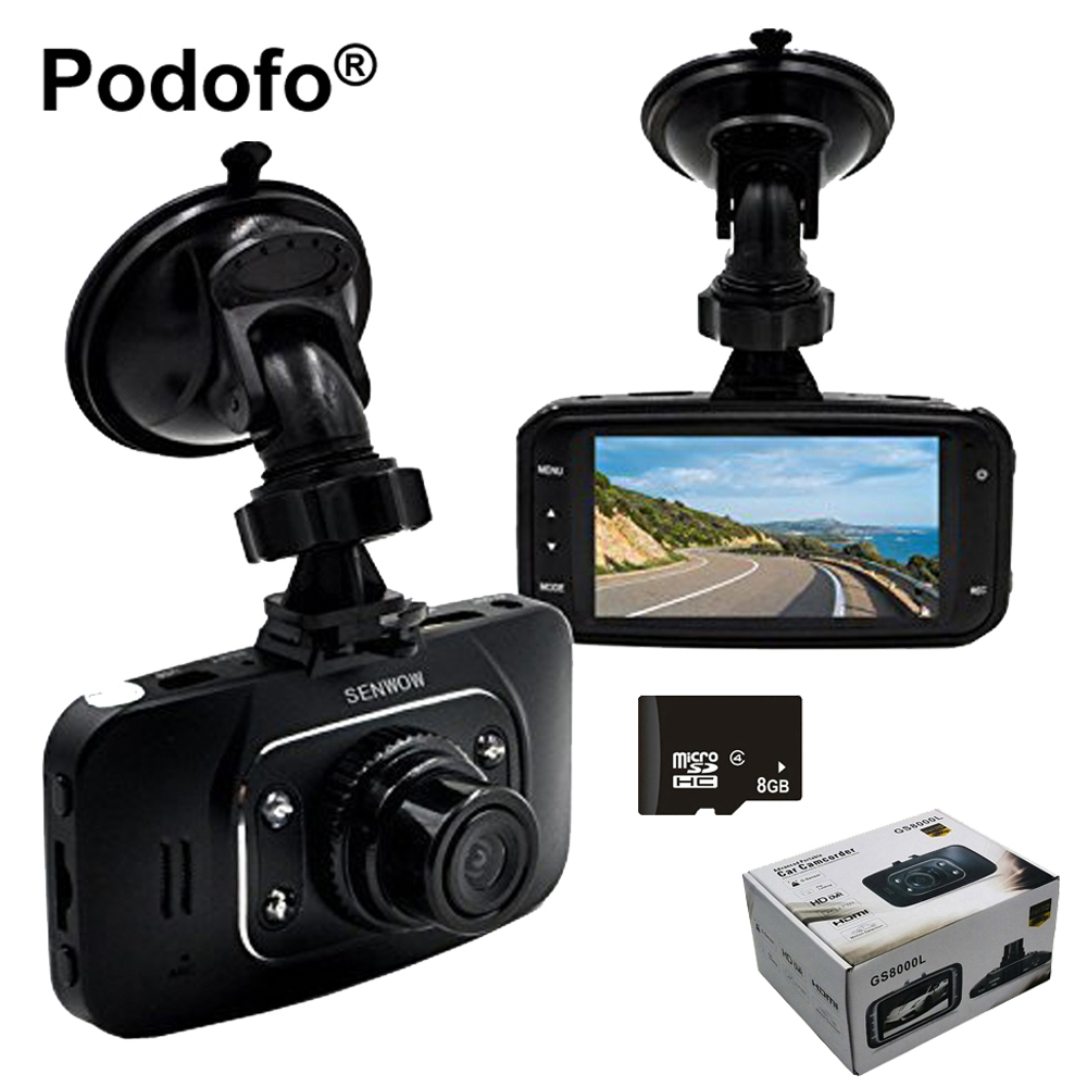 imágenes para Original GS8000L Novatek 96220 Coches DVR Cámara Dash Cam 2.7 pulgadas FHD 1080 p Video Recorder/g-sensor/Visión nocturna/Grabación Del Ciclo
