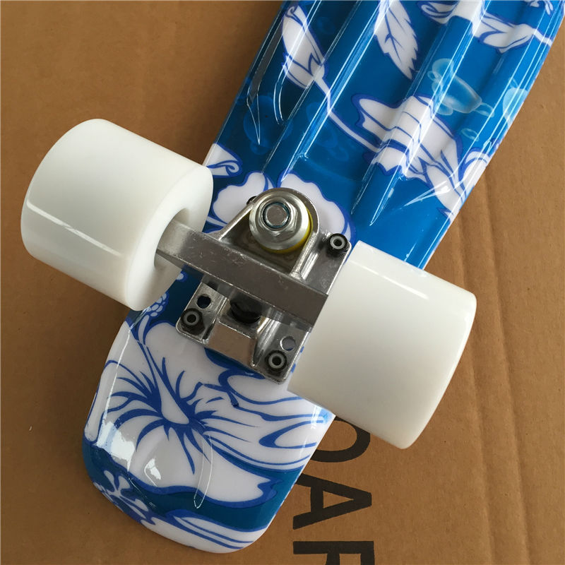 Image 5 - 22 Inch complete Mini Skate board With White flowers pattern for Girl and boy to Enjoy the skateboarding Mini rocket board-in Skate Board from Sports & Entertainment