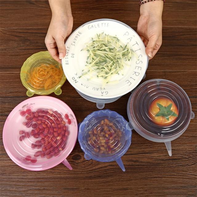 6 шт/компл пищевая обертывания многоразовые силиконовые пищевые