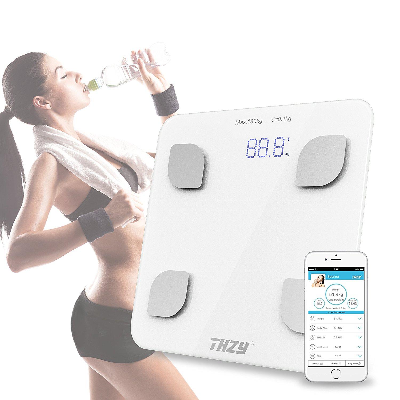 Bluetooth Body Fat Scale,THZY Digital Body Weight Bathroom Scale,Smart Large Backlit Display Scale for Body weight, Body Fat large scale organizational change