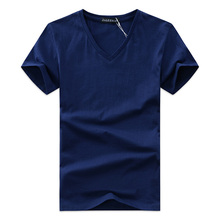 Cotton Short Sleeve V-Neck Unisex T-Shirt