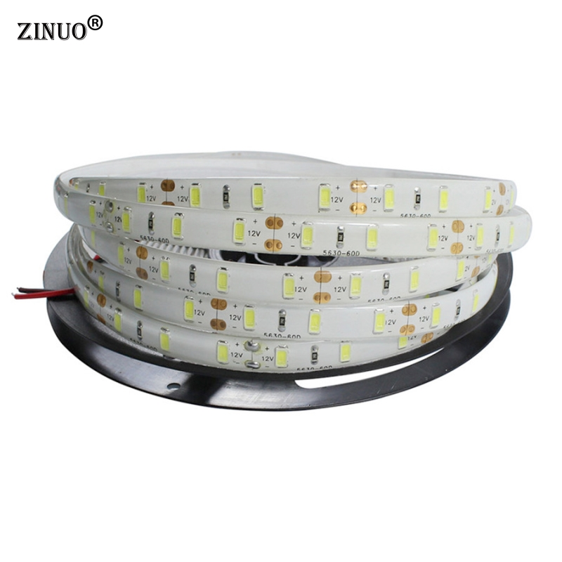 ZINUO DC12V Led strip Light 5630 5M 300led Waterproof Flexible Bar Light Non-waterproof LED Tape Ribbon indoor Home Decoration