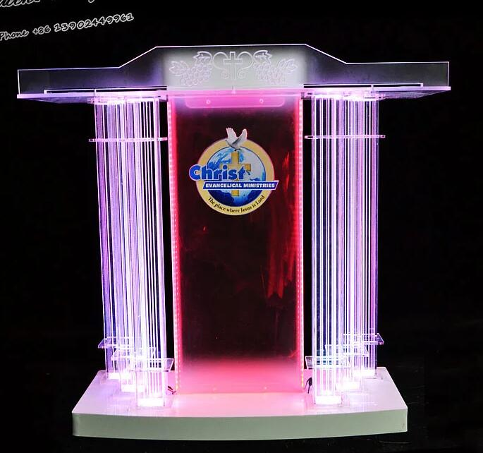 2019 Exquisite GUIIHEYUN Podium Floor Standing Lectern Church Pulpit W/ Elevated Reading Surface