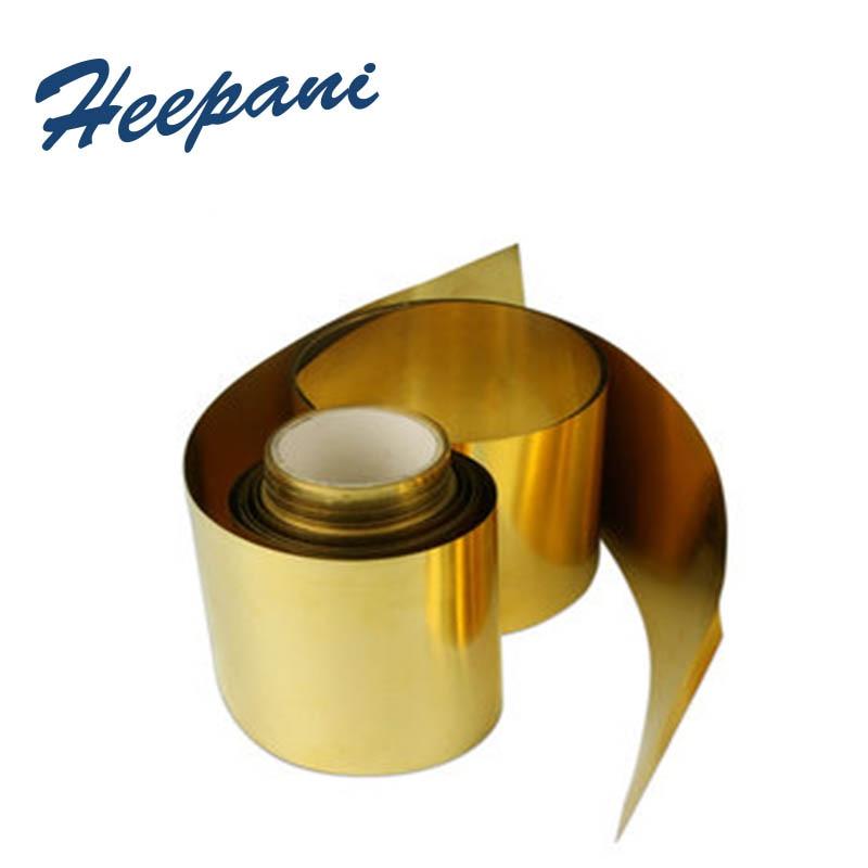Free Shipping H62 Brass Belt 0.01mm / 0.03mm / 0.5mm / 0.8mm / 1mm Yellow Cu Copper Strip / Sheet
