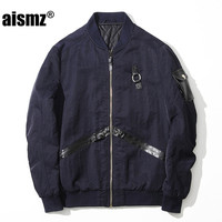 Aismz New Men S Bomber Jacket Coat Brand Clothing Fashion Male High Quality Air Force Windbreaker