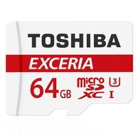 קיבולת אמיתית מקורי toshiba 64 gb 90 mb/s microsdxc כרטיס זיכרון u3 הבחירה הטובה ביותר עבור go pro 4 k וידאו למעלה איכות
