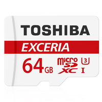 Real Capacity Original TOSHIBA 64gb 90MB/S microSDXC U3 Memory Card Best Choice For Go Pro 4K Video Top Quality