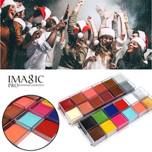 IMAGIC Paint Greasepaint Makeup 12 Colors Body Painting  Face Art Party Glitter Pigment Smoky Eye Shadow Beauty Glazed