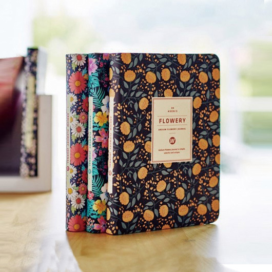 Kawaii Leather Floral Diary/schedule/planner notebook 1