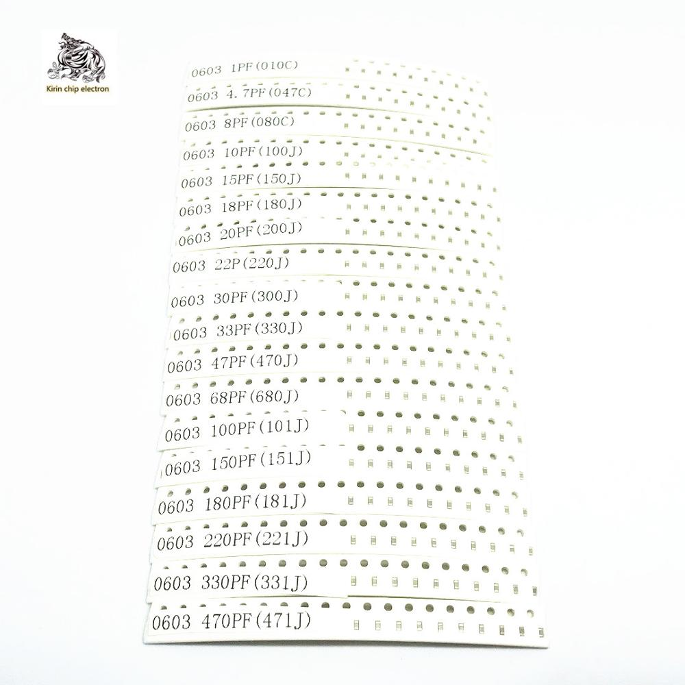 720pcs/lot 0603 SMD Multilayer Ceramic <font><b>Capacitor</b></font> MLCC Chip <font><b>capacitor</b></font> Kit set 6.3V-<font><b>50V</b></font> 1PF-<font><b>10UF</b></font> 010J-106K High quality product image