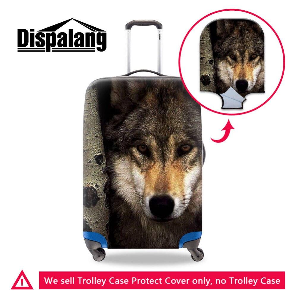 Dispalang холодный волк печати Чемодан защитный Чехлы для мангала для 18-30 дюймов Путешествия троллейбус случае чемодан Пылезащитный чехол доро...