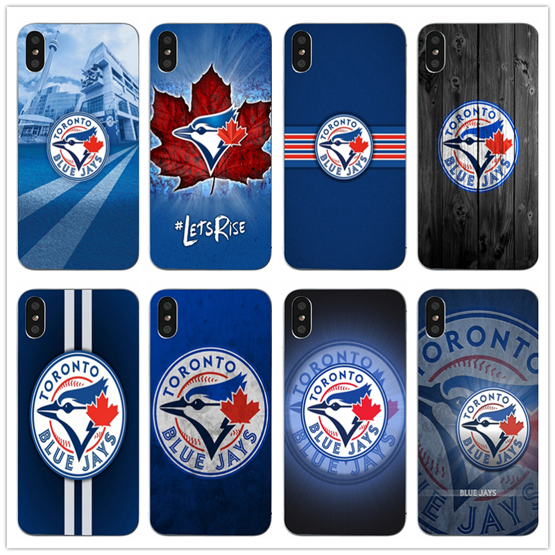 designer fashion 46505 748cb US $1.99 |Toronto Blue Jays Baseball Soft TPU Silicone Mobile Phone Cases  for iPhone X 10 7 6 6s 8 Plus 4 4S 5 5S SE 5C Coque Bags Shell-in ...