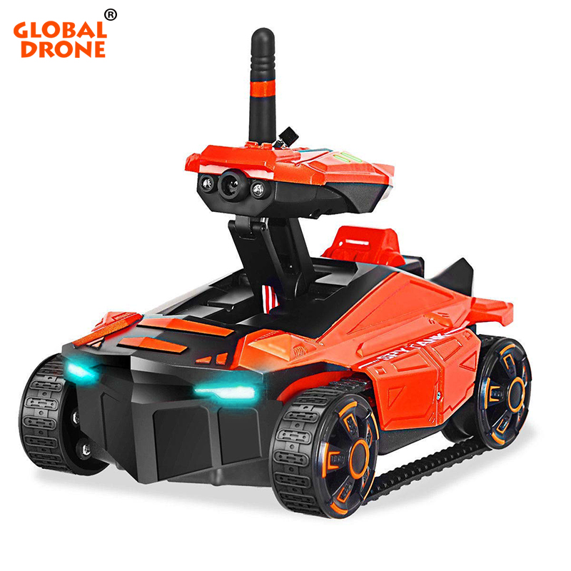 Global Drone Smart RC Tank Wifi FPV Camera App Control Voiture Telecommande Robot Toys Tank RC Car Toys for Boys гаджет skm toys fpv rover tank rfp 0014 01