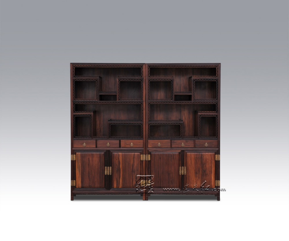 Redwood Furniture display shelf cabinet Chinese antique Curio ...
