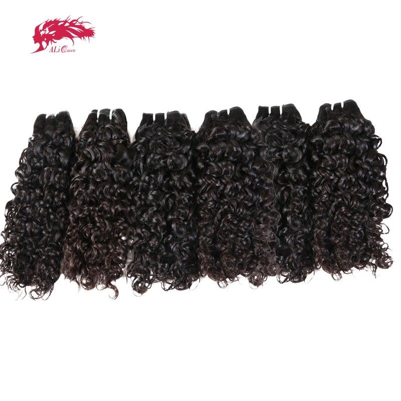 Али queen волна воды оптовая продажа 10 шт. Лот Необработанные Девы бразильский человеческие волосы химическое Наращивание волос комплект нат...