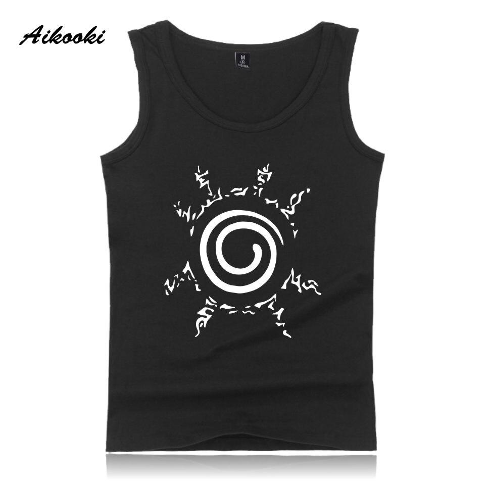 Aikooki Uzumaki Naruto Vest Men Women Casual Sleeveless Cotton   Tank     Top   Hip Hop Summer Male Female Pop Fashion Vest Print   Tops