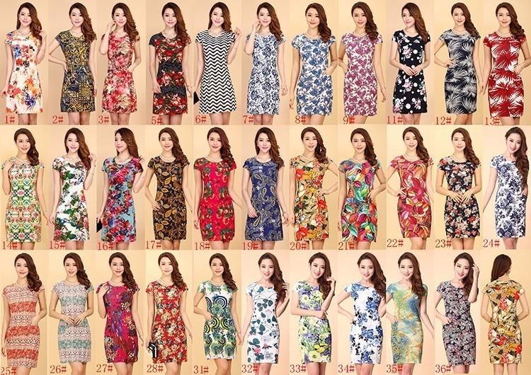 HANQIYAHULI 5XL 2018 Women style dress Slim Tunic Milk Silk print Floral Casual Plus Size vestido feminino loose dresses clothes 5