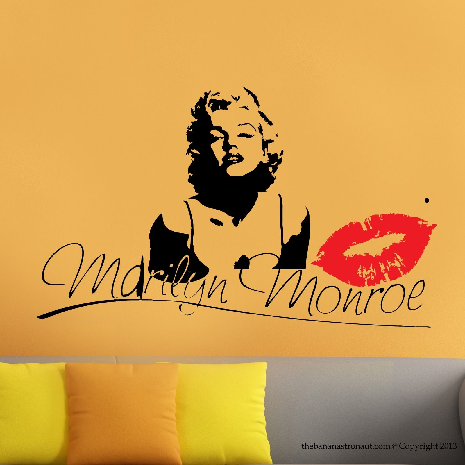 G240 Marilyn Monroe Kiss Wall Decal Stickers Decor Easy Removable ...