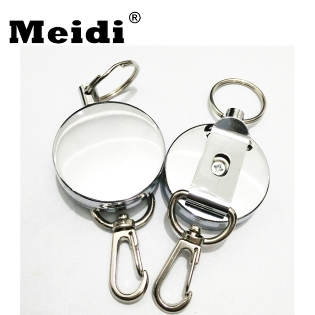 Retractable Alarm Keychain Anti Lost Keyring Metal Steel Wire Rope Elastic  Key Chain Pendant for Men Women Gift 2018 New Arrival 5e2fee5a4f