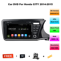1024 600 Quad Core Android 5 1 HD 2 Din 9 Car DVD Player For Honda