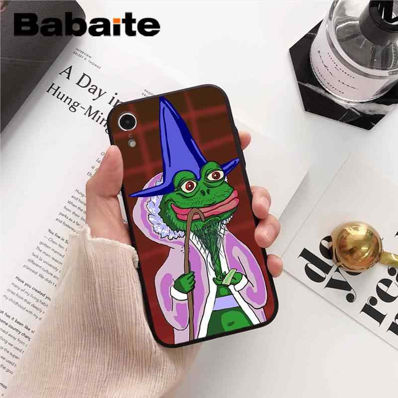 size 40 deabb 54910 Babaite Sad decadent frog Customer High Quality Phone Case for iPhone 8 7 6  6S Plus X XS MAX 5 5S SE XR 10 Cases