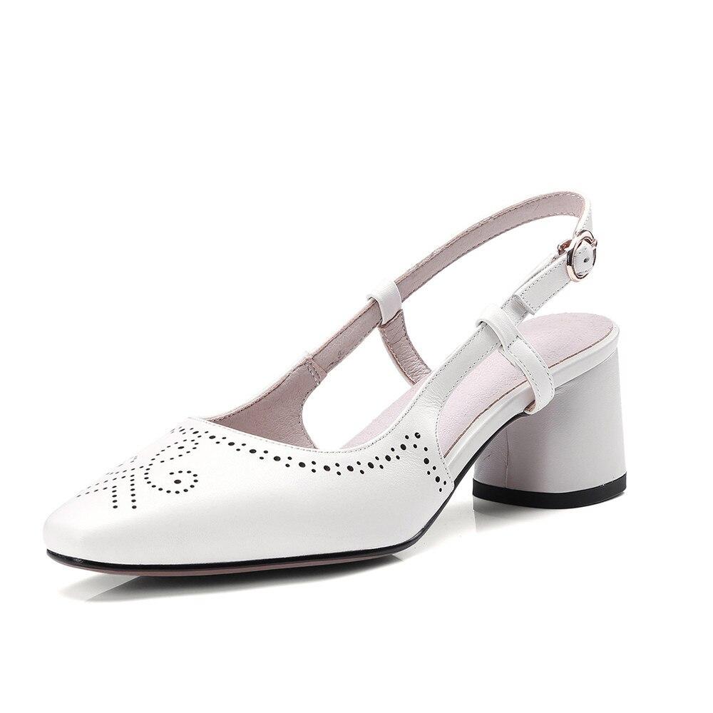 Mode Schuhe 2018 Schnalle Echtem Hochzeit Frau Beige Morazora schwarzes Party Sandalen Ferse rosa Sommer Leder Hohe Einfache Frauen Elegante wpXx4t