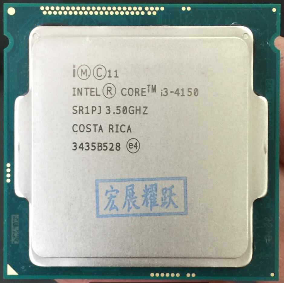 Intel Core PC Processeur I3 4150 I3-4150 CPU LGA1150 22 nanomètres Dual-Core 100% fonctionne correctement De Bureau Processeur