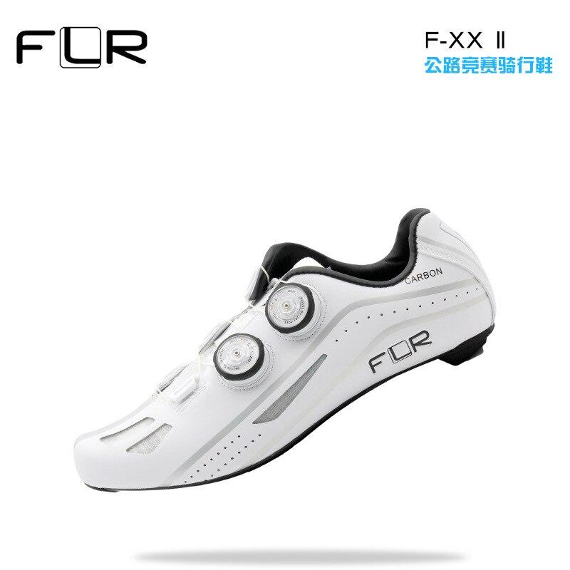 FLR Road Professional Road Bike SPD Carbon Cycling Shoes Racing Shoes Fiber Road Bike Shoes Athletic