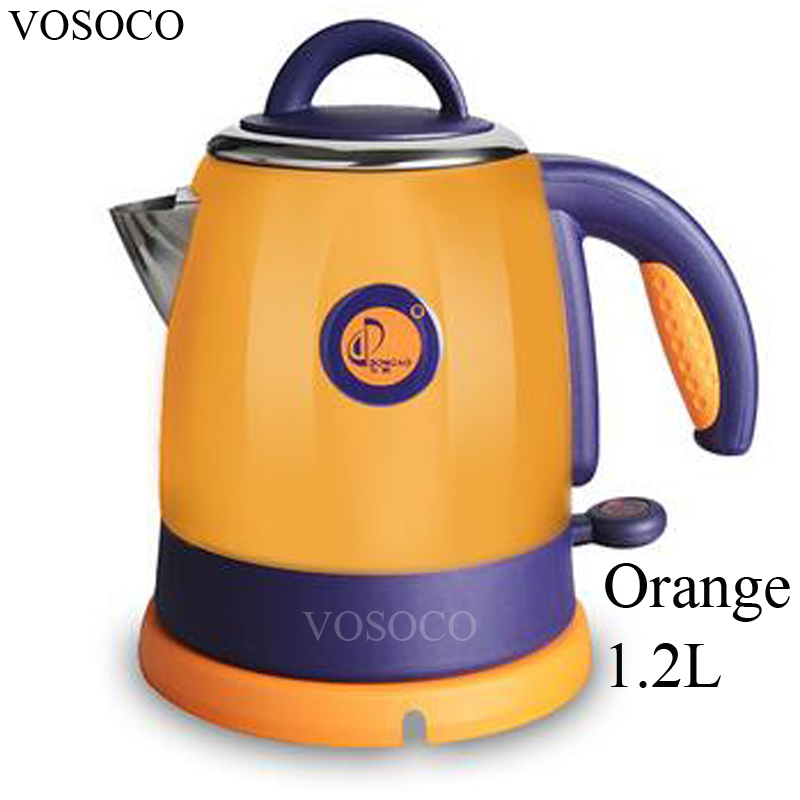 VOSOCO Electric kettle 304 stainless steel small kettle automatic power off 0.8L/1.2L 1000W 220V Prevent dry burning Mini kettle free shipping automatic power off kettle mk h215e4 stainless steel double midea beauty