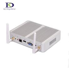 DHL бесплатно Безвентиляторный mini PC barebone Intel Celeron N3150 Quad Core 4 * USB 3.0 HDMI VGA HTPC micro PC TV Box