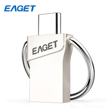 EAGET Type-C USB 3.0 Flash Disk 32GB Mini Memory Stick Pen Drive 16GB Metal USB Flash Drive 64GB For Smart Phone Laptop CU66