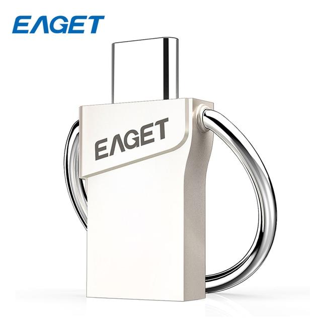 Hot mini eaget cu66 tipo-c usb 3.0 16 gb 32 gb 64 gb pendrive Pen Drive USB Flash Drive De Armazenamento Portátil para o Telefone Inteligente Macbook