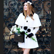 dabuwawa 2016 winter two pieces fashion long outerwear ladies casual woolen coat cloak pink doll